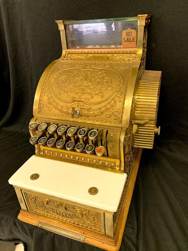 "National ""Candy Store"" Brass Cash Register"